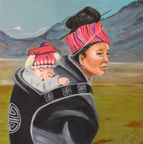 Mother and Child on the Steppes
