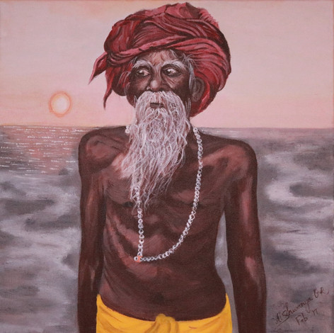 Sadhu on the Ganges