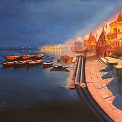 A Quiet Night in Varanasi