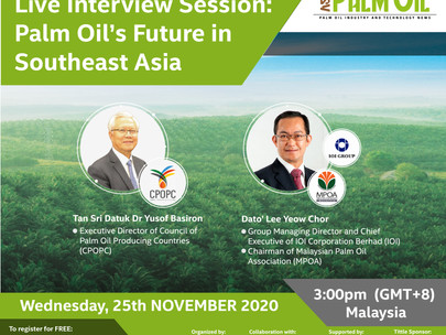 Our Live Interview Session: Palm Oil's Future in Southeast Asia is on TODAY!