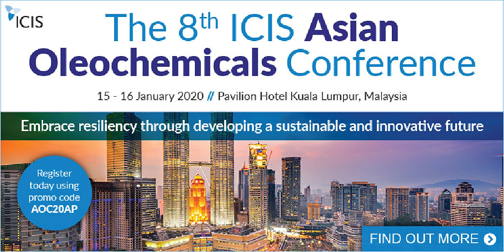 The 8th ICIS Asian Oleochemicals Conference 2020