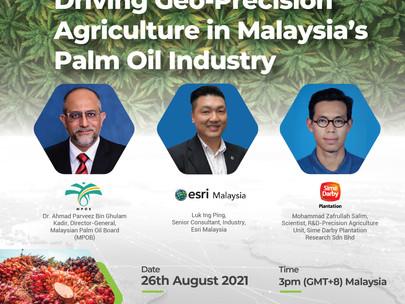 Esri Malaysia Webinar Invitation: Driving Geo-Precision Agriculture in Malaysia's Palm Oil Industry