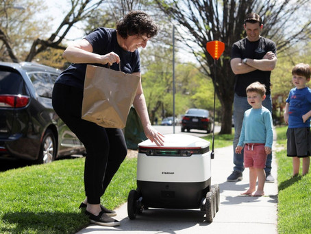 Robots Ride to Rescue as Delivery Risks Rise