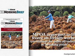 MPOA Urges Govt to Lift Freeze on Foreign Worker Recruitment for Palm Oil Industry