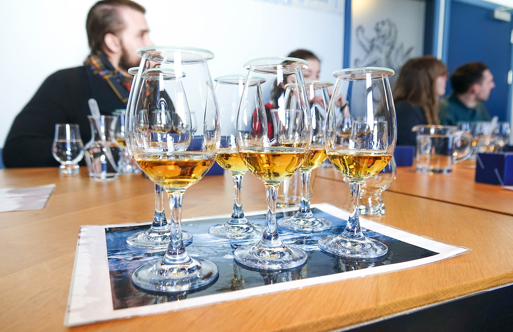 6 different expressions included in the Talisker Tasting Tour.