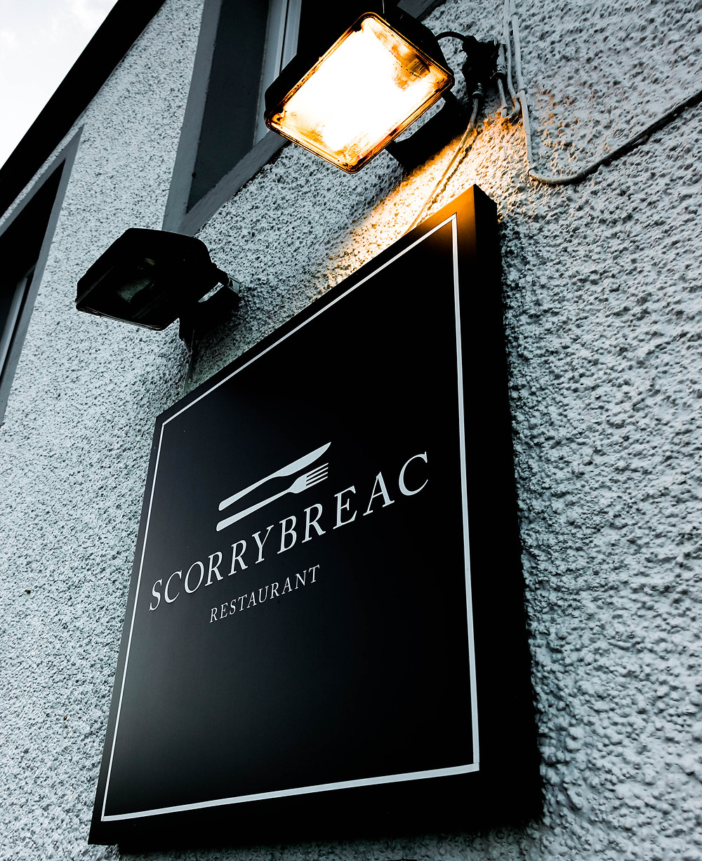 Door sign of Scorrybreac Restaurant