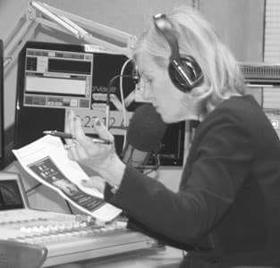 Shelley Irwin, host of the WGVU Morning Show