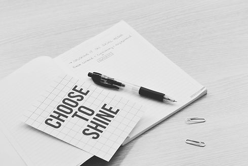 Tick_Tock_South_Virtual_Assistant_Services_Book_Online_Photo_Black_White_Choose_To_Shine_Motivation_Diary_Pen_Social_Media