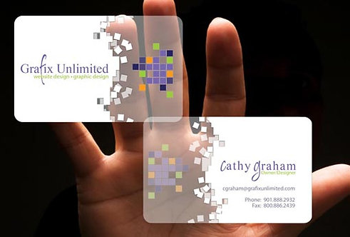 Plastic White - Business Cards