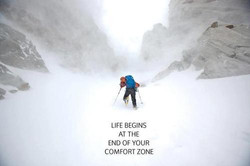 One step out of the comfort zone