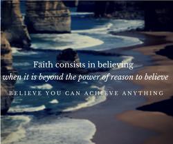 Faith creates miracles