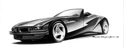 BMW Zeta Concept Car (1993) Sketch