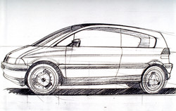 BMW Electric E2 (1991) Sketch