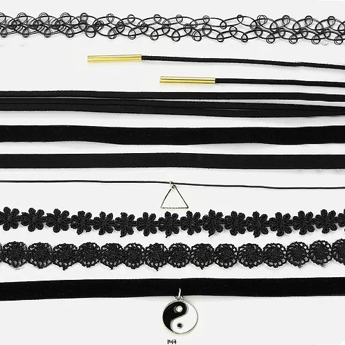SET DE CHOKERS MALEFICIO