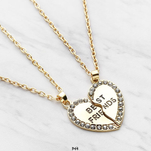 SET DE COLLARES BEST FRIENDS DORADO