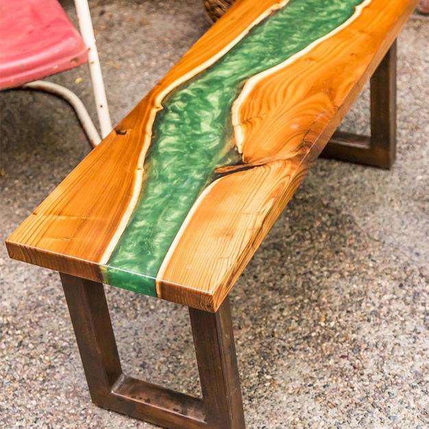 Live Wood Epoxy Coffee Table