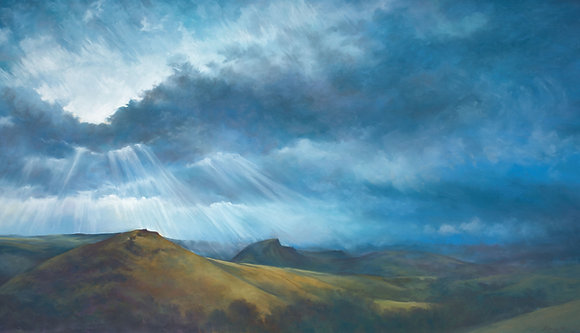 Summer Storm Towards Chrome Hill
