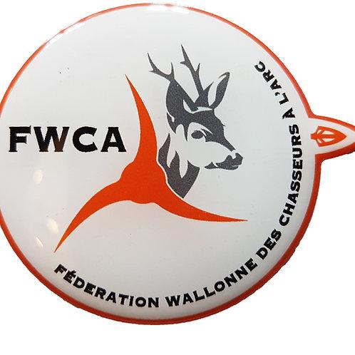 Autocollant en relief 3D Fédération Wallonne des Chasseurs à l'Arc - FWCA