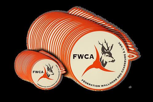 Autocollant Fédération Wallonne des Chasseurs à l'Arc - FWCA