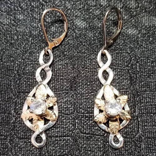 """Vining Moon Flowers"" Earrings"
