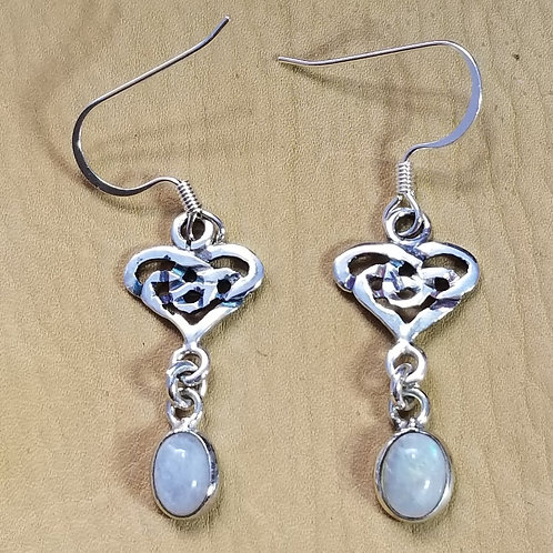 """Celtic Moon Drops"" Earrings"