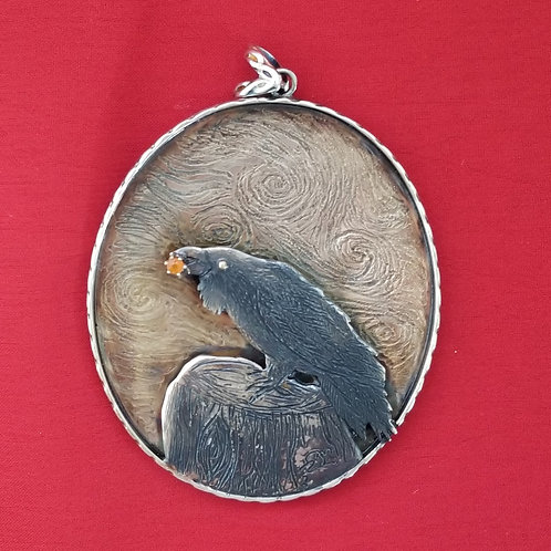 """Raven Brings The Sun"" Pendant"