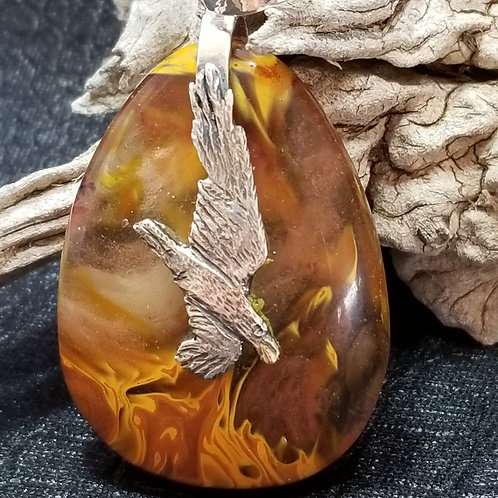 """Raven Brings Fire To The People"" Pendant"