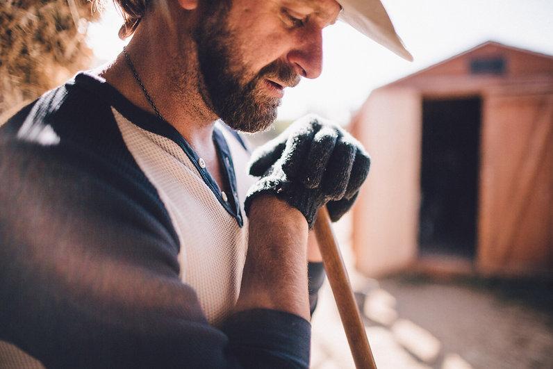 Farmer Taking a Break