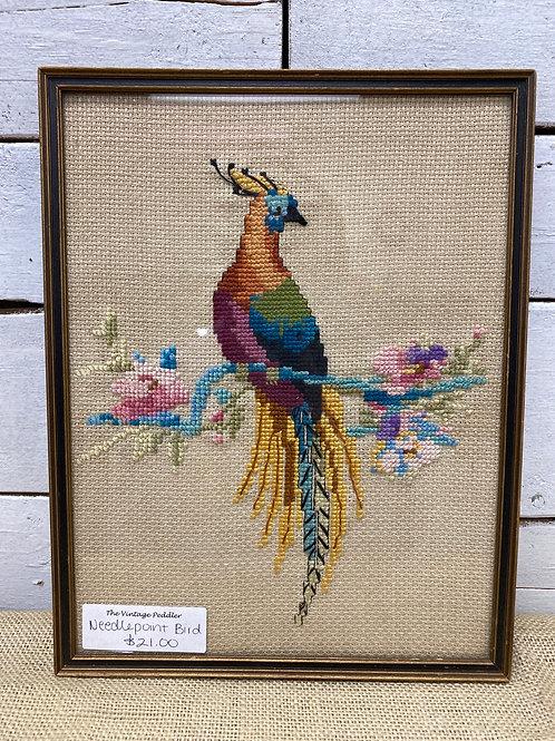 Needlepoint Bird Picture