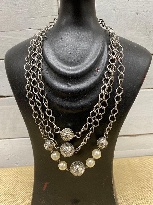 Disco Ball 3 Strand Necklace