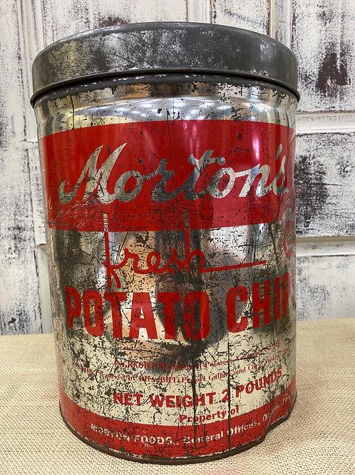 Morton's Potato Chip Tin