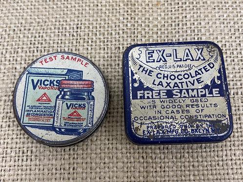 Set of 2 Advertising Tins