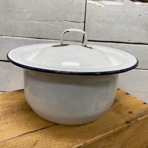 Enamel Pot w/Lid