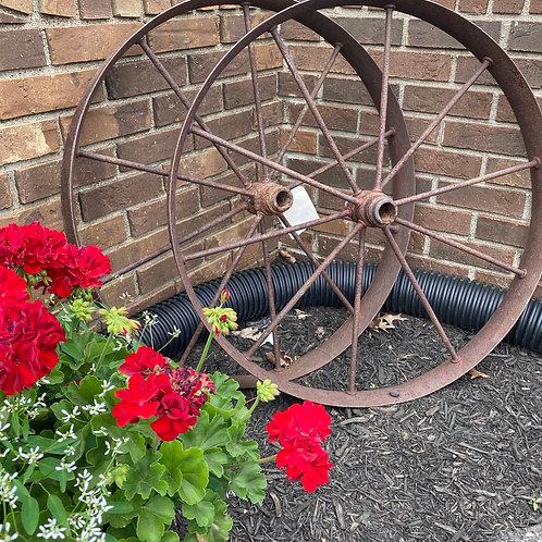 "30"" Set of 2 Wagon Wheels"