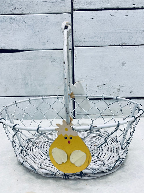 Wire Basket with Chick