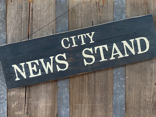 City News Stand Sign
