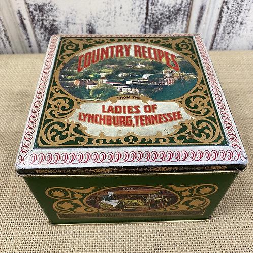 Country Recipe Tin