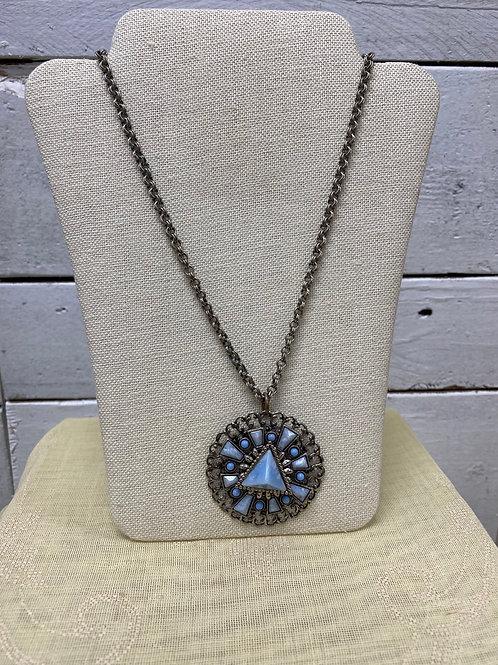 Blue Medallion Necklace