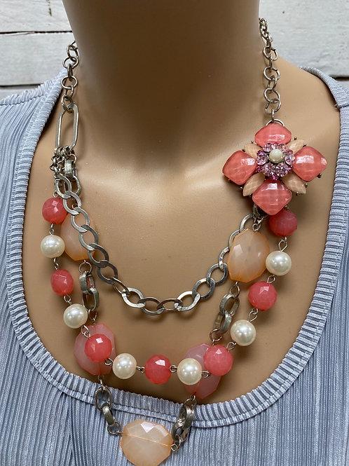 Brooch Embellished Necklace