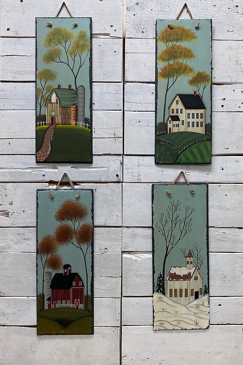 4 Season Slate Wallhangings