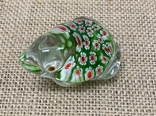 Glass Frog Paper Weight