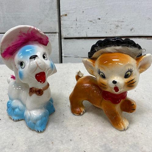 Retro Dog/ Cat Figures