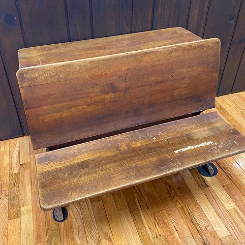 Antique Double School Bench