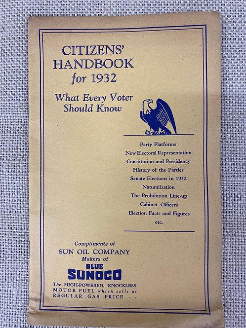 Citizens Handbook 1932