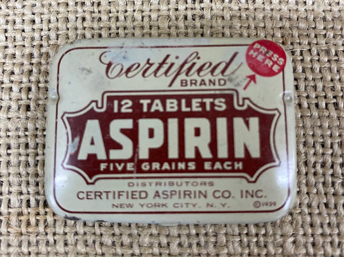 Aspirin Tablet Tin