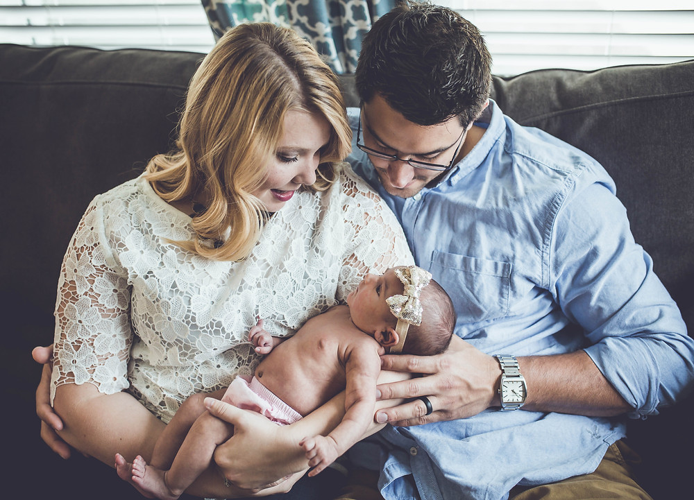 new parents and baby