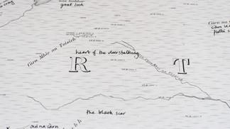 place-aware map of Dundreggan estate
