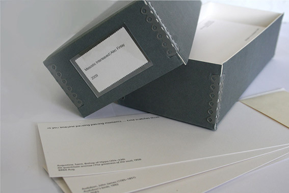 Mesostic Interleaved Archive box