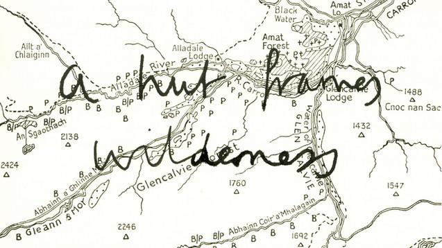 a hut frames wilderness