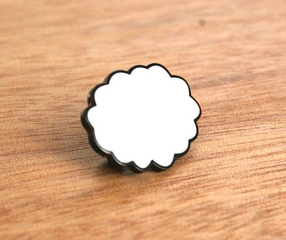 Thought Cloud, enamel badge